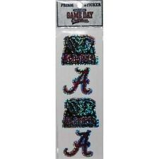 Alabama Crimson Tide 4 Count Prism Sickers - NCAA Decals Prismatic Bling Pack