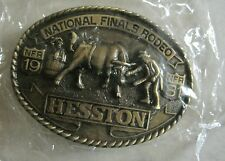 National Finals Rodeo Hesston 1981 NFR Adult Cowboy Buckle Vintage Original Pkg