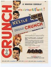 PUBLICITE ADVERTISING 104 1963 NESTLE Crunch chocolat au lait au riz craquant