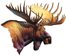 """Moose Car Magnet Auto Truck Safe New Hunting 9.5"""" Wide Magnetic Art Wild Animals"""