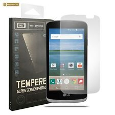 LG Optimus Zone 3, VS425 [2 PACK] Clear Tempered Glass Anti-Scratch 0.3mm Shield
