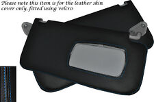 BLUE STITCH FITS SUBARU FORESTER 1997-2002 2X SUN VISORS LEATHER COVERS ONLY