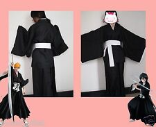 Halloween Anime BLEACH Death Cosplay Costume Shinigami Kimono Specifications S