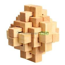 Traditional DIY Wooden Wood Intelligence Education Puzzle Lock Toy Children Gift