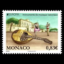 "Monaco 2014 - EUROPA Stamps ""Musical Instruments"" Music - MNH"