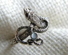 unusual vintage RING shaped as twisted SNAKE sterling silver 925
