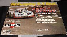 Nurburgring SUPER SPRINT Interserie 1975 programma PORSCHE 911 RSR BOB WOLLEK