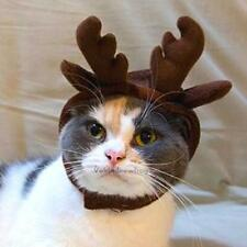 Reindeer Pet Hat for Cats Dogs Halloween Costume Cap Christmas Cosplays Coffee