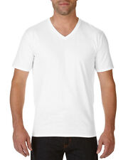 Gildan Premium Cotton Adult V-Neck T-Shirt  - Men's Casual tops - S M L XL 2XL