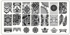 Stamping Nail Art Plate image, 6x12 cm en acier inoxydable BC-03 139