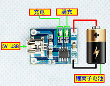 USB 1A lithium Batterie cell liion li charger board module liion LED Charging 5V