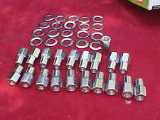 20,7/16 x20 nhra open end mag wheel lug nuts,cragar with centered washers,rat