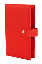 Leather Golf Scorecard Holder Red By Mala  507 14