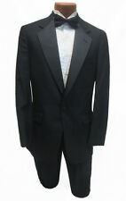 36R New Mens Designer Black Brooks Brothers Tuxedo Coat & Pants Classic Wedding
