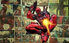 """010 MARVEL - DEADPOOL Comic Large Wall Art Canvas Picture 20""""x30"""""""
