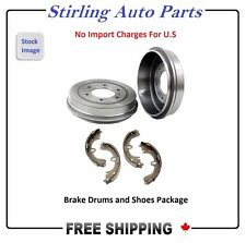 Pair of 2 Brake Drums And 4 Brake Shoes Rear Fits Chevrolet Cavalier 80008