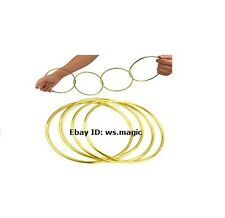 "Golden 4 Chinese Linking Rings 4.5"" Magic Trick Close Up Street Party Show NEW"