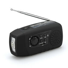 Solar Powered Wind Up Radio / Flashlight / Charger - Mini, Portable & Handheld