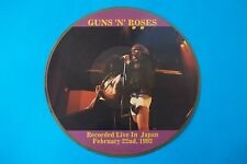 GUNS 'N' ROSES RECORDED LIVE IN JAPAN FEBRUARY 22 nd, 1992 PICTURE DISC MADE IN