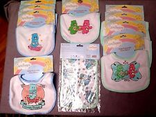 Baby Bibs/Burp CareBear LOT of 10 Assorted Super Cute NEW in Packages