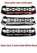 TOYOTA HILUX REVO 2016 FRONT PLASTIC GRILLE WITH WHITE LIGHT HAS RED WHITE BLACK