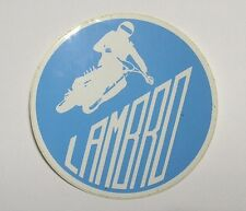 VECCHIO ADESIVO MOTO / Old Original Sticker LAMBRO MOTOCROSS TRIAL (cm 8)
