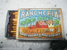 RANCHERIA - SAFETY MATCHES, MADE IN SWEDEN