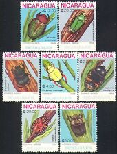 Nicaragua 1988 Insects/Beetles/Bugs/Nature 7v set b7377