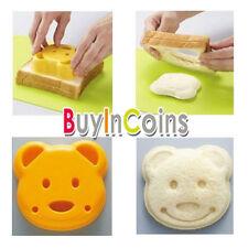 Teddy Bear Shape Sandwich Pane Cake Mold Maker Mold Craft Cutter HK