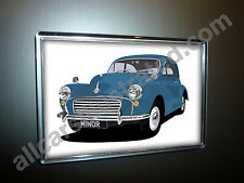 MORRIS MINOR FRIDGE MAGNET (LARGE). CHOOSE YOUR CAR COLOUR.
