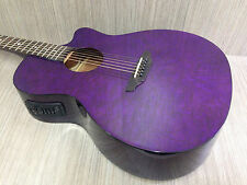 Gypsy Series Quilted Ash 4/4 Acoustic-Electric Guitar Trans Purple GYP E QA TPP