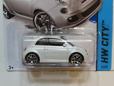 HOT WHEELS 2014 HW CITY FIAT 500  WHITE