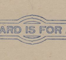 U.S. #UX21e  POSTAL CARD POINTED ARCS w/CERT 1910  PREPRINTED