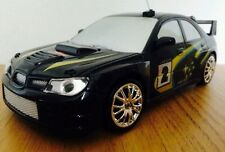 SUBARU IMPREZA WRC Radio Remote Control Car FAST SPEED DRIFT CAR - BLACK