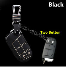 Leather car key case remote control case for Jeep Cherokee Grand Cherokee 2014