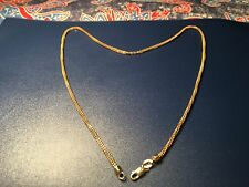 "Lady's Double Inter Twine 14k Solid Gold Necklace, 18.5"" & 7 grams."