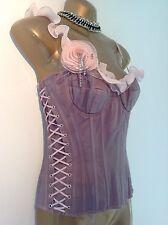 Unique karen millen tie dye lacets bustier guêpière corset femme taille 8