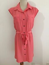 Banana Republic Belted Cap Sleeve Dress Tea Rose/Coral Size 2 NWT! MSRP $99.99