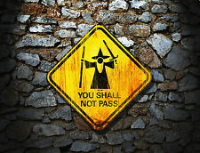Lord of the Rings inspired You Shall Not Pass Mouse Mat
