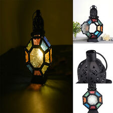 Furniture Creations Iron Moroccan Market Lantern Style Stained Glass