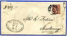 ITALIA - Regno - 1875 - Martinengo - Cividate al Piano - 2 c. tiratura di Torino