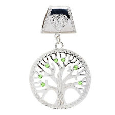 Celtic Charm Silver Tree of Life Scarf Necklace Pendant Large Charm