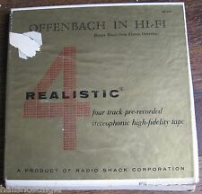 Reel to Reel Tape OFFENBACH IN HI-FI Realistic 4-track RST-406 from eleven opera