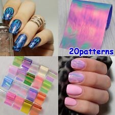 20PCS Holographic Nail Foils Starry Sky Glitter Foils Nail Art Transfer Sticker