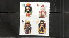 4371a Holiday Nutcracker Block of 4 ATM Pane 4368-4371