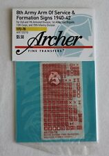 Archer 1/72 British Formation Signs & Arm Of Service Flash (Red & White) AR72070