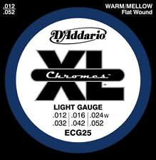 3 Pack!  D'Addario XL Chromes Light 12-52 ECG25 Warm/Mellow Guitar Strings