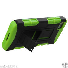 BlackBerry Z10 Hybrid C Armor Case Skin Cover w/ Kickstand Black Green