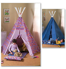 Butterick 4251 Sewing Pattern to MAKE Easy Tepee Playtent  Wigwam & Sleeping Mat