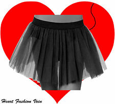 Plus Size Black Tutu skirt Dark Fancy Costume dance party Halloween Christmas
